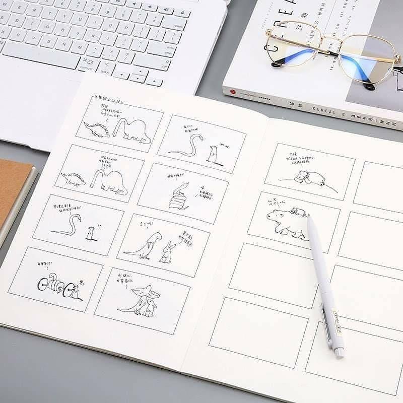 สมุดสตอรี่บอร์ด StoryBoard Book ขนาด A4 กับ A5