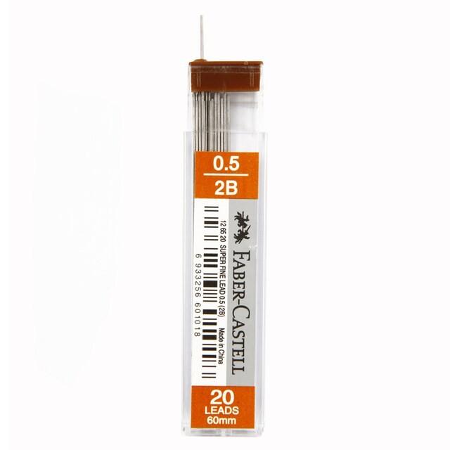 ไส้ดินสอ 0.5 มม. 2B แพ็ค Faber-Castell 4J6626