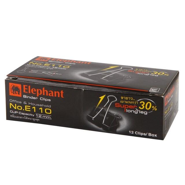elephant Binder Clip No.E110 32 มม. 12 ตัว/กล่อง